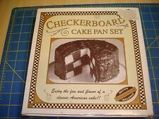 CHECKERBOARD CAKE PAN NEW IN BOX & WITH INSTRUCTIONS & RECIPES