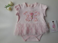 Gorgeous 'Biscotti' baby girl butterfly tutu romper size 0 Fits 9m *Gift Idea*