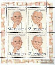 Penrhyn 668-669 Sheetlet mint never hinged mnh 2012 Pope Johannes Paul II.