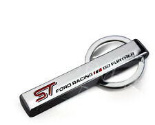 1Pcs ST Motor Sports Stainless Steel Car Key Ring Keychains Charms Best Quality