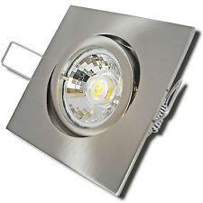 5er Set LED Einbauleuchte Deckenstrahler Square 230Volt Reflektor Warmlicht Spot