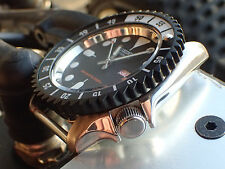 THE-BLACK-SHARK-ONE MOD / CUSTOM BEZEL FOR SEIKO SKX007 7S26 - 020 DX-01-B