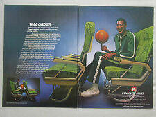 11/1981 PUB FAIRCHILD AIREST 2000 SEAT SIEGE AIRCRAFT BASKETBALL PLAYER AD