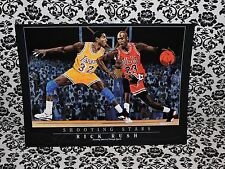 Rick Rush Michael Jordan Magic Johnson Shooting Stars Vignette 10,000 in Series