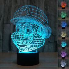 New Super Mario 3D Night Light 7 Colors Changable LED Desk Table Light Lamp