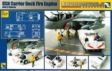 Kinetic 1/48 SW-48007 USN Carrier Deck Fire Engine with 3 Figures