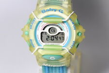 CASIO BG-340 X-treme blue Velcro band Baby-G shock resistant watch board