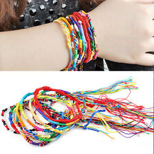 Colorful 20PCS Lot Braid Strands Friendship Cords Woven Rope Handmade Bracelets