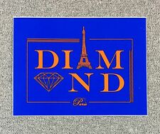 Diamond Supply Co Paris Skateboard Sticker 4in blue si