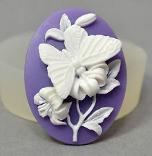Butterfly Cameo silicone mold food use polymer clay resin fimo fondant plaster