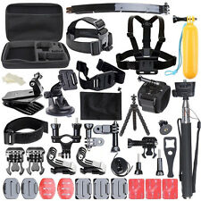 50 in 1 Pole Head Accessories Kit for GoPro Hero 2 3 4 Action Camera Bundle Set
