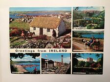 Greetings from Ireland Vintage John Hinde Giant Postcard 1962 Never Mailed