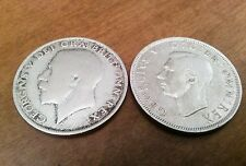 Lot of 2 Great Britain Silver Half Crowns, 1921, 1942