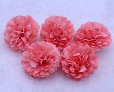 10PCS Watermelon Red Daisy Artificial Silk Flower Heads Wedding Party Decoration