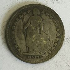 Suisse swiss helvetia 1/2 franc silver coin 1909