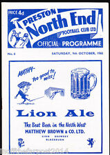 1965/66 PRESTON NORTH END V COVENTRY CITY 09-10-1965 Division 2