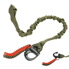 Tactical Military Quick Release Elastic Waist Safety Belt Rope Outdoor CS Green