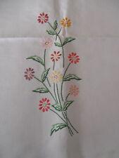 Tischdecke Baumwolle Spitzen Stickerei Handarbeit 170x140 Margerithen CB79
