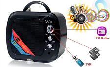 Mini Cassa WS-575 Casse Altoparlante Speaker Radio Fm MicroSd Usb Mp3 3w hsb