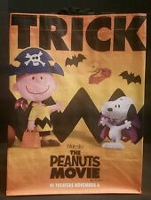 New 2015 Peanuts Movie Trick Or Treat Halloween Promo Bag Charlie Brown Snoopy