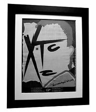 XTC+Drums And Wires+TOUR+POSTER+AD+RARE ORIGINAL 1979+FRAMED+EXPRESS GLOBAL SHIP