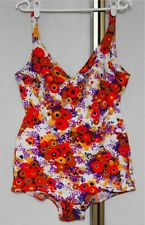 Vintage 70s Triumph Low Leg Bullet Moulded Bra Swimsuit Swimming Suit L/XL