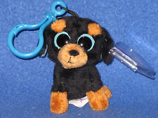 TY BEANIE BOOS - TUFFY the DOG KEY CLIP - MINT with MINT TAGS