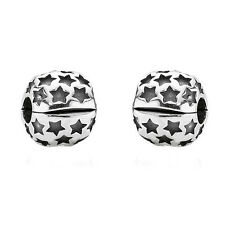 Two Pandora Star Clip Charms