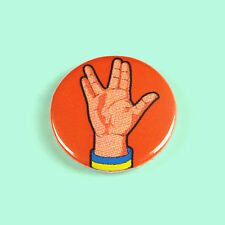 Star Trek - Vulcan Salute - Button Badge - 25mm 1 inch -Trekky