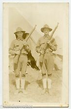 WW1. Carte Photo . DOUGHBOYS. SAMMIES. AMERICAN MILITARY  MILITAIRES AMéRICAINS