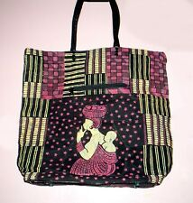 "African Soft Leather Handmade 15"" Fashion Tote Bag"