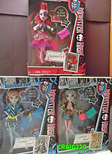 PICTURE DAY Monster High Dolls OPERETTA LAGOONA FRANKIE Set Wave 2 MIB Lot of 3