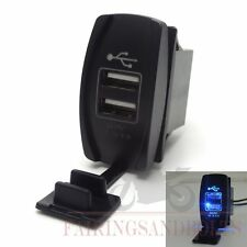 Blue USB Charger for Polaris UTV RZR RZR4 Ranger XP 1000 900 800 Crew 2015 2016