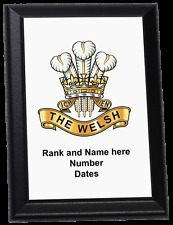 Personalised Wall Plaque - The Welsh Regiment (up to 1921)