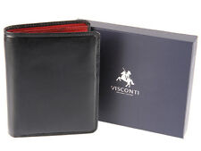 Visconti Mens Gift Boxed Real Leather Wallet For Cards, Banknotes & Coins - TR34