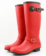 KOREA FASHION ADELA womens red us 8,Rainboots, rubber, 5ppah