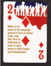 Hands Across America Human Chain to Fight Homelessness Neat Playing Card #6Y8