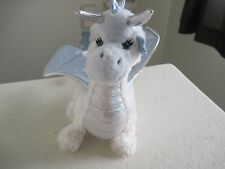 "Ganz ICE DRAGON 9"" White Plush Stuffed Animal"