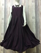 KAMUFLAGE- DESIGNER GERMAN AMETHYST TAFFETA WIRED HEM DRESS- STEAMPUNK-SIZE 2
