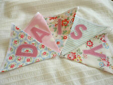 Cath Kidston Provence Rose blue  personalised bunting -CHRISTENING/NEW baby girl