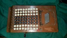FELT & TARRANT COMPTOMETER 1920s ANTIQUE SHOEBOX ADDING MACHINE WORKING BLK KEYS