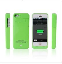 2500mAh Rechargeable Fast Charging Case Lithium Battery iPhone 5/5S/5C/SE -Green