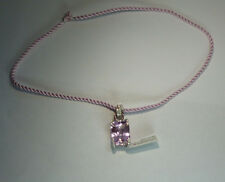 18k White Gold 27.23ctw Natural Kunzite, Pink Sapphire & White Diamond Pendant