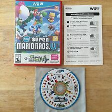 New Super Mario Bros. U + New Super Luigi U Nintendo Wii U System Complete Game