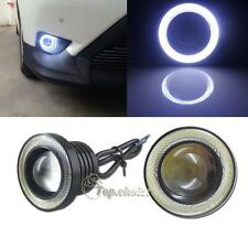 "2pcs 2.5"" High Power White COB Halo Angel Eye Rings Projector Fog Lights For Car"