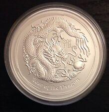 2012 lunar dragon 5 oz silver bullion coin Perthmint