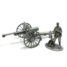 Rare Atlas 1:32 World War I French M1987 75mm Cannon howitzer Artillery Soldier