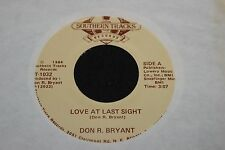 Don R. Bryant Love At Last Sight b/w Cryin Her Lie 45 From Co Vault Unopen Box *