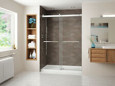 "FLEURCO 57""-60"" x 75"" GEMINI FRAMELESS SLIDING BYPASS SHOWER DOOR, 1/4"" GLASS"