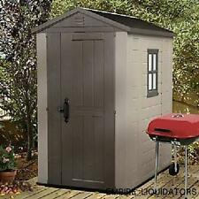 PALLET SHIPPING = Keter Factor 4' x 6' Resin Outdoor Storage Shed MODEL 213139
